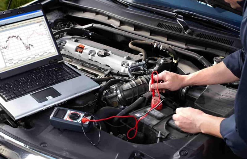 photo of automotive repair of an engine