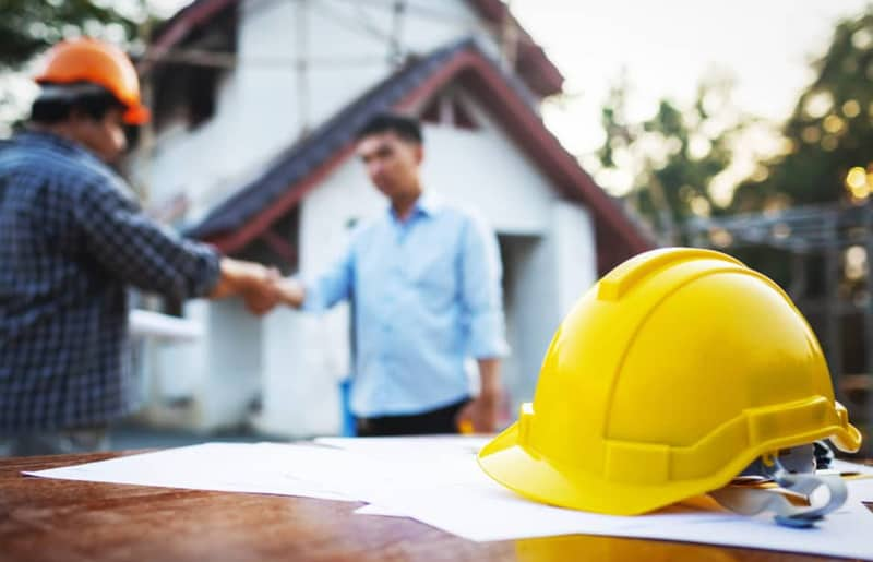 building services, permits, constructions, renovations, contracting background banner