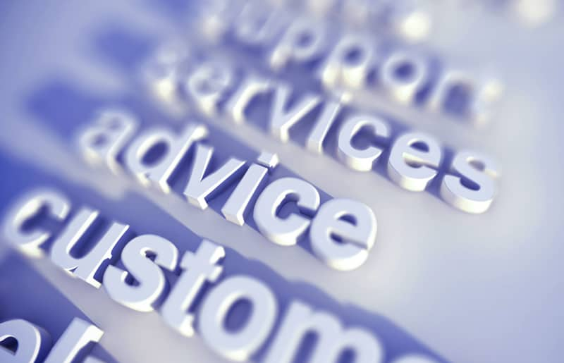 professional services listed in a column