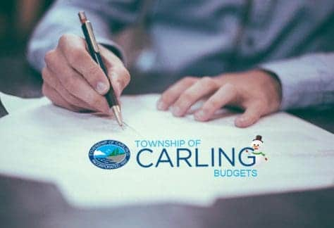 Signing Carling documents