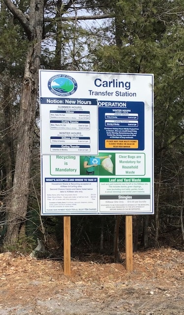 Waste site information sign