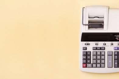 financial information calculator banner